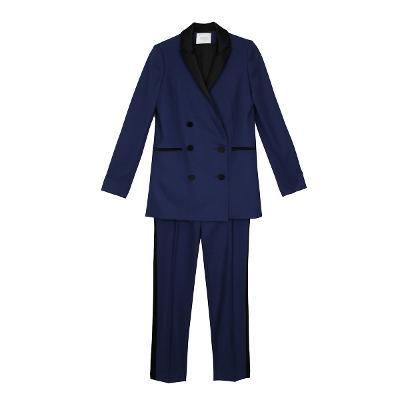 color point double jacket & side lined slacks